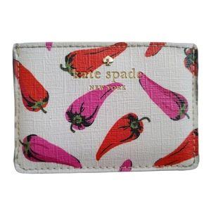 Kate Spade Chili Pepper Card Holder / Mini Wallet